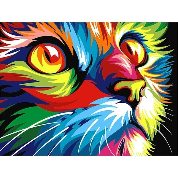 Diamond Painting - Diamond-painting-op-canvas-cat